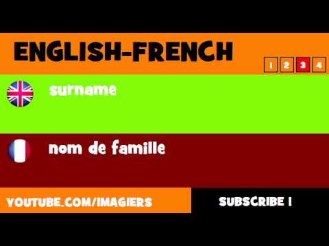 FROM ENGLISH TO FRENCH = surname