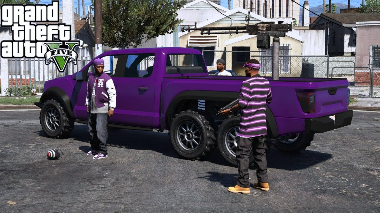 GTA 5|CHOLOS DE GTA V - GROVE VS POLICIA VS CHOLOS |EdgarFtw