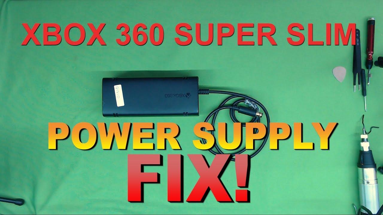 xbox 360 super slim or elite power supply repair fix [ 1280 x 720 Pixel ]