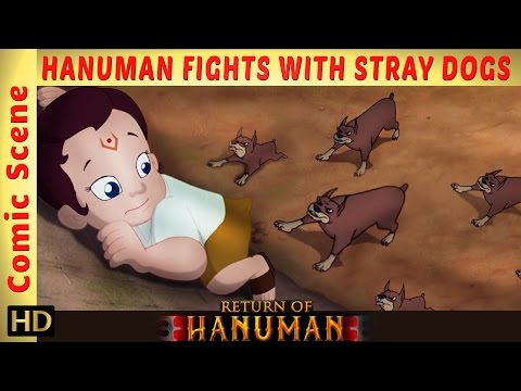 Return of Hanuman | Bal Hanuman fights with Stray Dogs | Comic Scene | HD