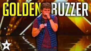 Top Comedian DREW LYNCH Gets Golden Buzzer America s Got Talent 2015