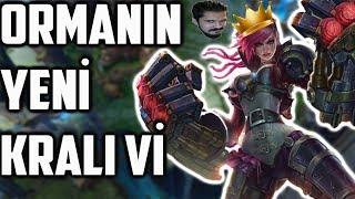 Bu Kadar Buff Vi'yi Ormanın Kralı Yaptı ! - League of Legends