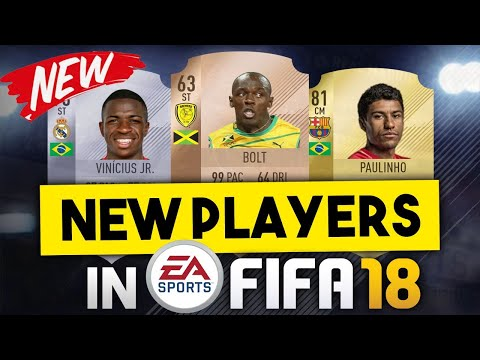 NEW PLAYERS IN FIFA 18 ULTIMATE TEAM! FT. USAIN BOLT, PAULINHO, VINICIUS JNR.!