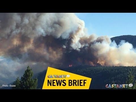 Firefight near Peachland