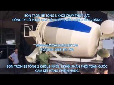 bồn trộn bê tông 3 khối thủy lực 0988874799 công ty Hồng Đăng mixing tank3 hydraulic blocks - YouTube