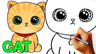 cat cartoon draw easy very drawing pennywise drawings step facedrawer
