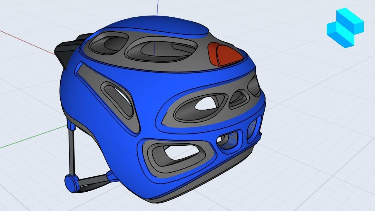 Bike Helmet Part 2   Advanced 3D modeling tutorial   Shapr3D - Bike Helmet Part 2   Advanced 3D modeling tutorial   Shapr3D