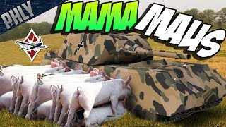 MAMA MAUS! 31 SHERMAN TANKS VS 1 MAUS TANK! War Thunder Tanks Gameplay