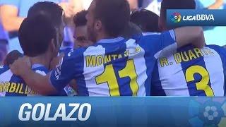 Golazo de falta de Salva Sevilla (1-0) RCD Espanyol - Getafe CF