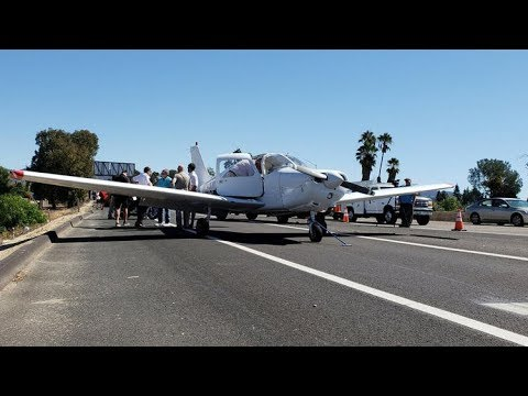 Shelley Wade - Student Pilot PERFECTLY Lands Plane On San Diego Highway