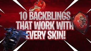 10 BEST BACKBLING THAT WORK WITH EVERY SKIN! | Fortnite Battle Royale! (Skin + Backbling Combos!)