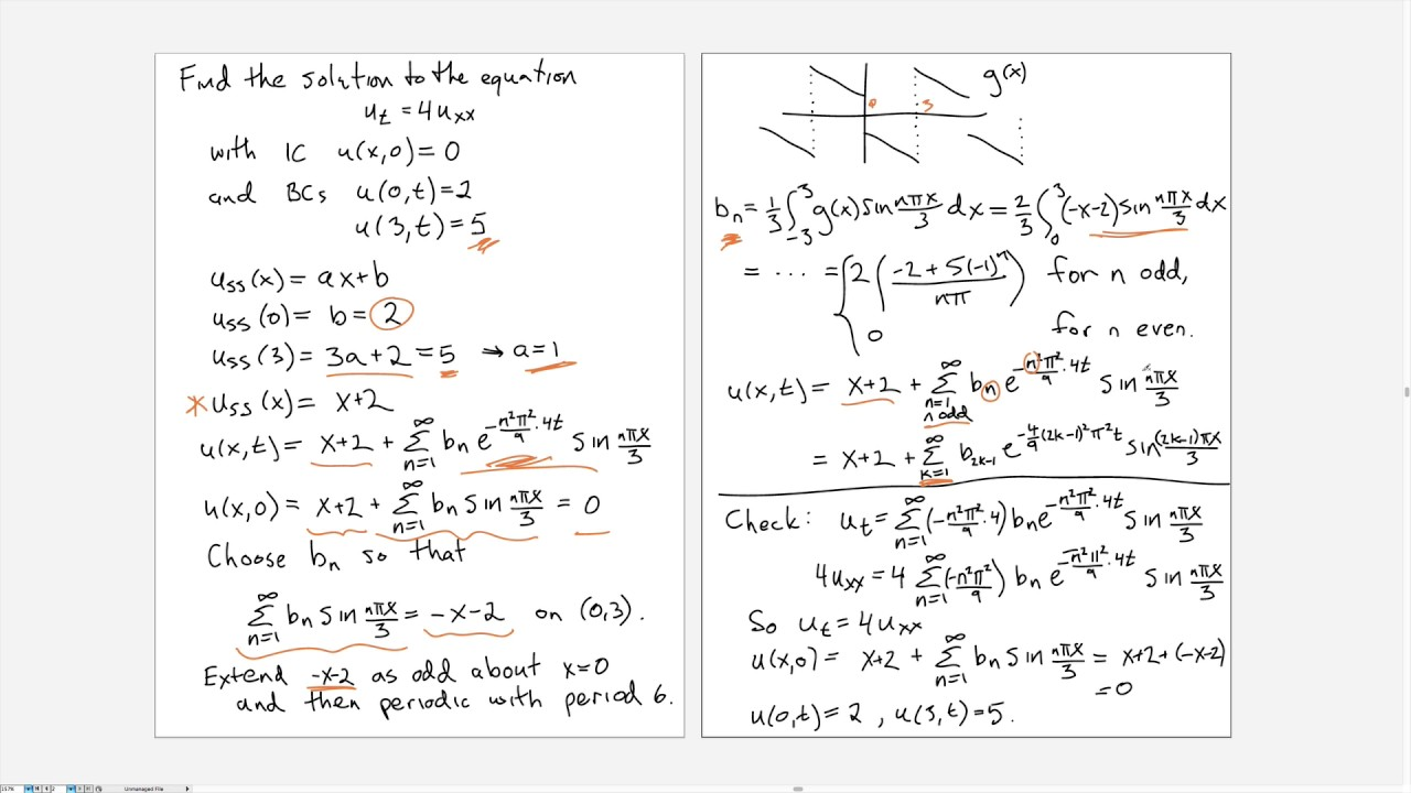 Solving the Heat/Diffusion equation - part 4