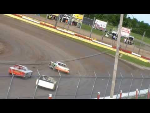 A slow motion compilation of racing at Utica Rome Speedway