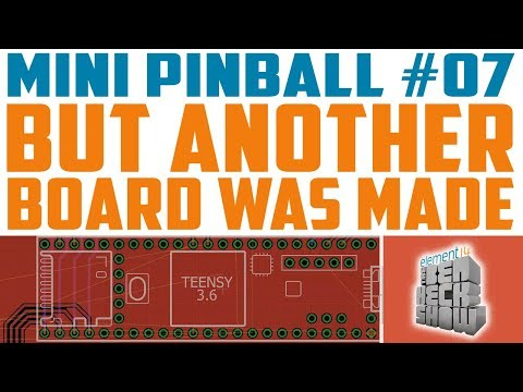 Mini Pinball 07: Designing the PCB