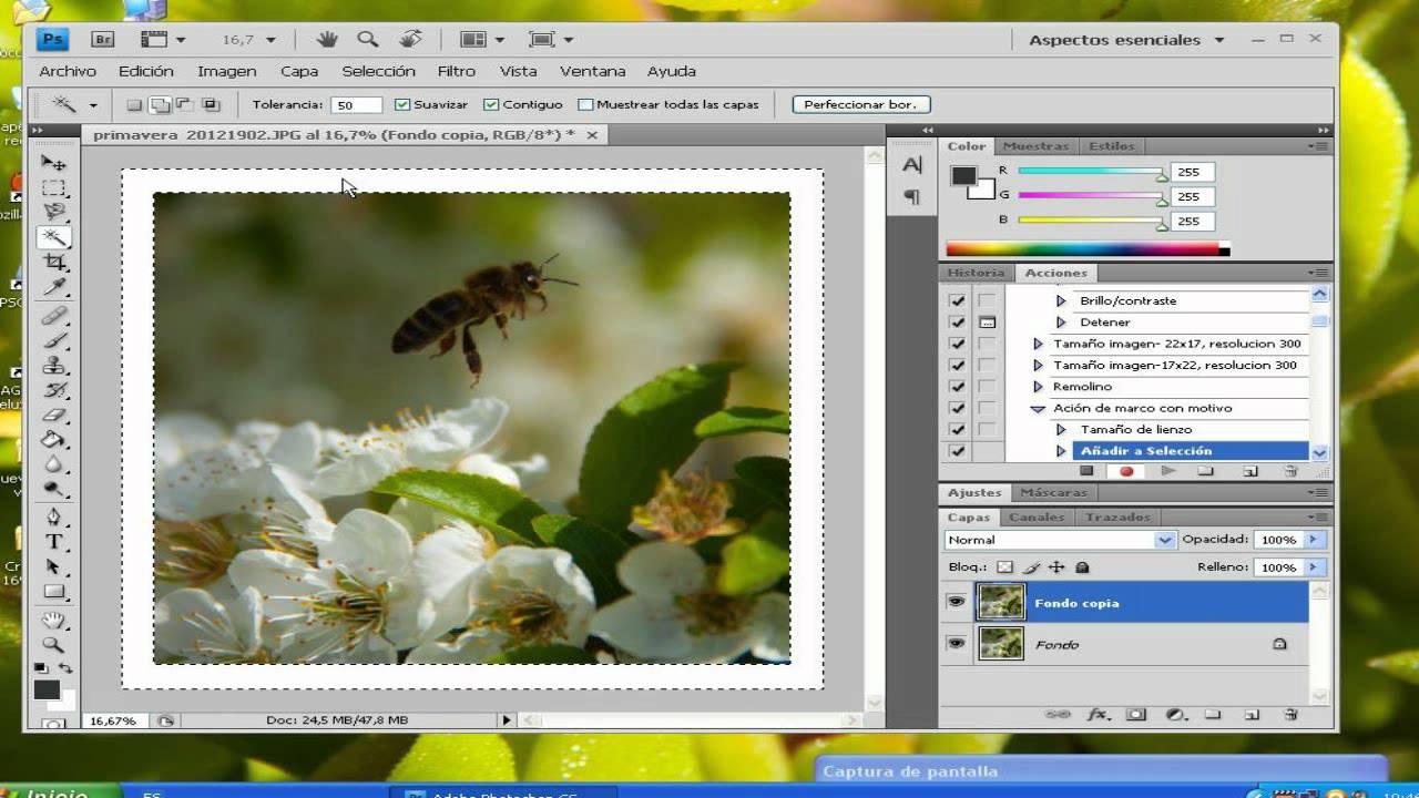 Tutorial de Photoshop, crear acción de enmarcado.WMV - YouTube