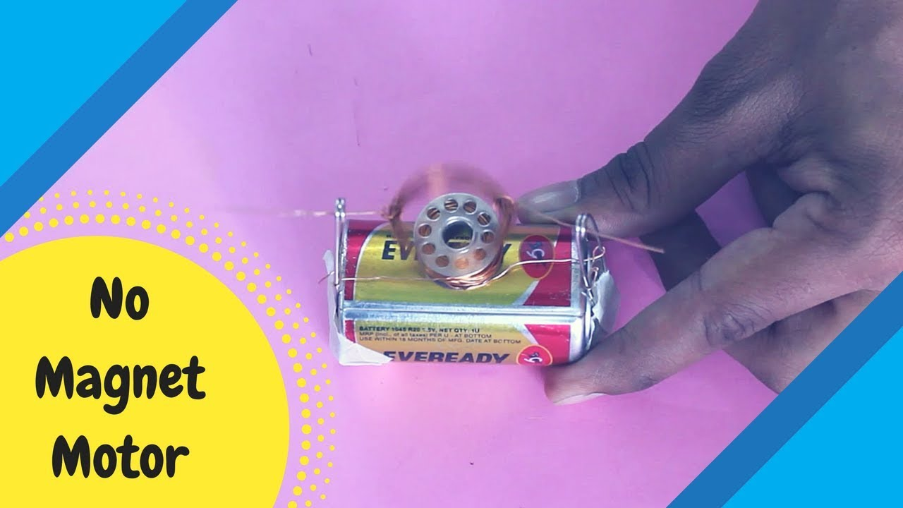 How To Make No Magnet Dc Motor Diy Science Project