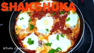 Shakshuka - Eggs Poached in Spicy Tomato Pepper Sauce - Whats Cooking Lari