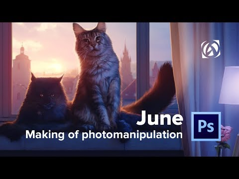 """June"" / Photo Manipulation in 5 minutes / Photoshop Speed Art Video thumbnail"