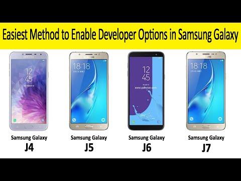Galaxy J2/J3/J4/J5/J6/J7: How To Enable Developer Options