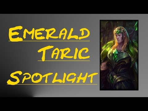 REWORKED EMERALD TARIC SKIN SPOTLIGHT - League of Legends Skin Review