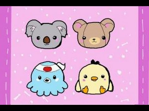 Image of: Stacked How To Draw Kawaii Animals Youtube How To Draw Kawaii Animals Youtube