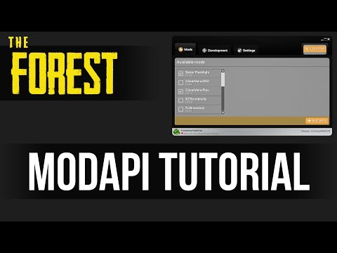 HOW TO MOD THE FOREST! ModAPI Full Tutorial