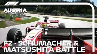 F2 EXCLUSIVE: Schumacher and Matsushita Battle! | 2020 Austrian Grand Prix