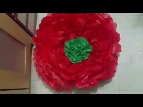 EASY DOLLAR TREE GIANT TISSUE PAPER FLOWERS