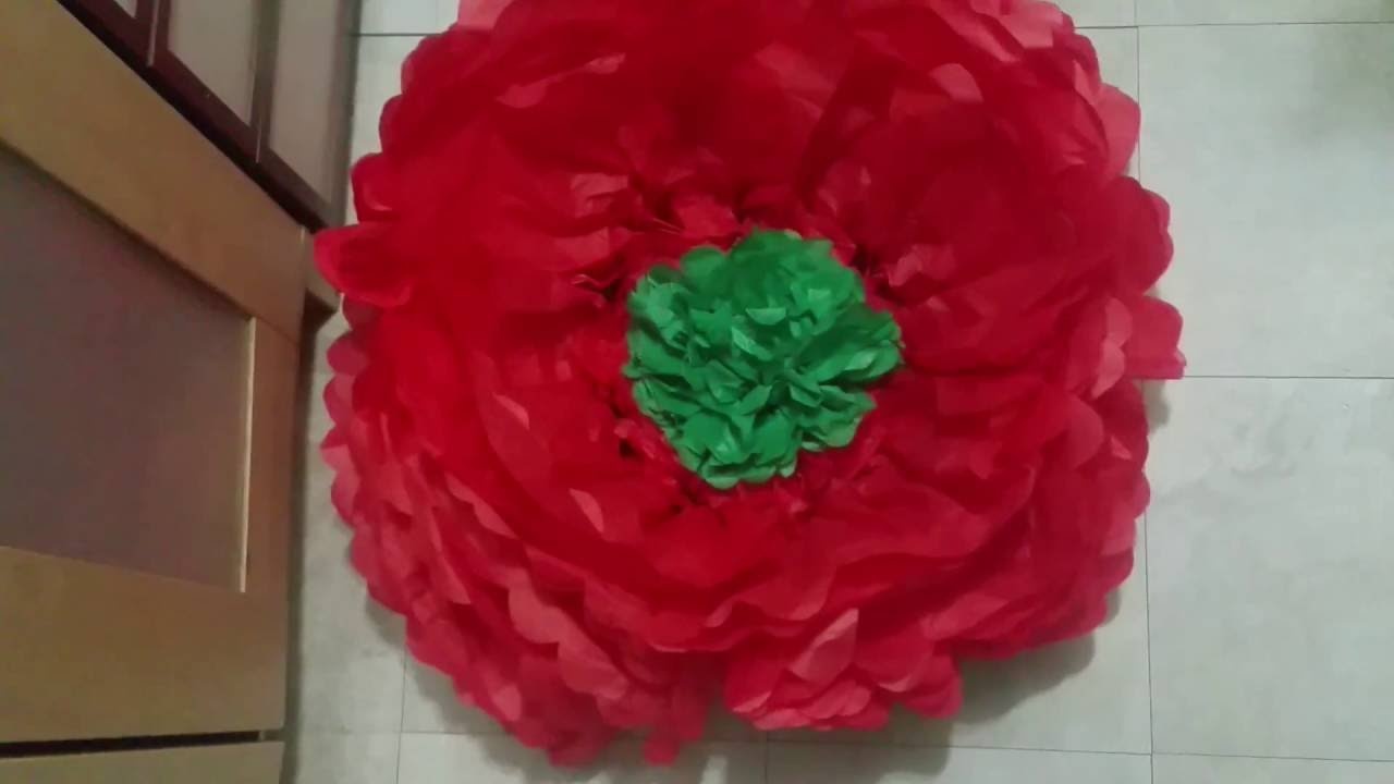 Easy Dollar Tree Giant Tissue Paper Flowers Youtube