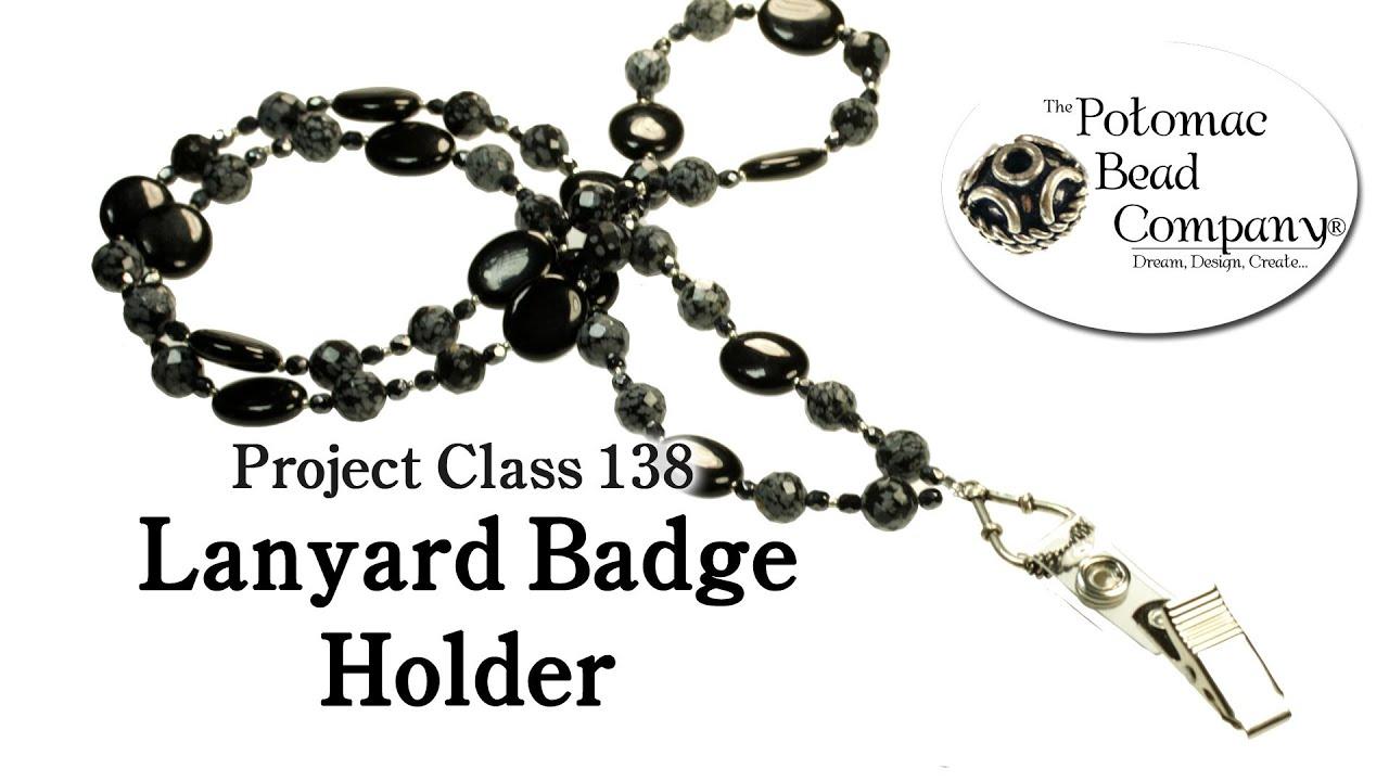 How to make a beaded lanyard badge holder youtube how to make a beaded lanyard badge holder solutioingenieria Choice Image