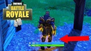 Thanos Glitch - run while jump animation - Fortnite