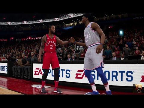 NBA LIVE 19 - Philadelphia 76ers vs Toronto Raptors - CPU SIM Full Game PS4 PRO - HD