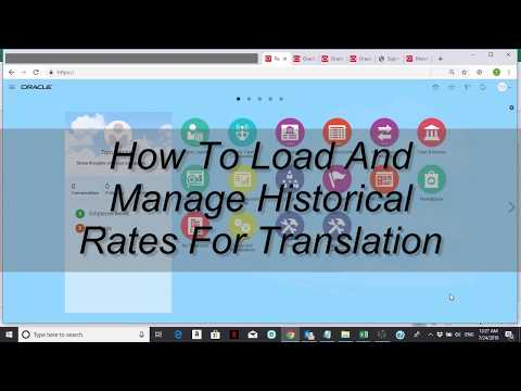 How to load and manage historical rates for translation