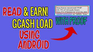 Read And Earn Gcash Money Using Android Phone screenshot 3