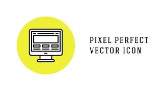 Illustrator tutorial how to create Line Pixel Perfect Icon
