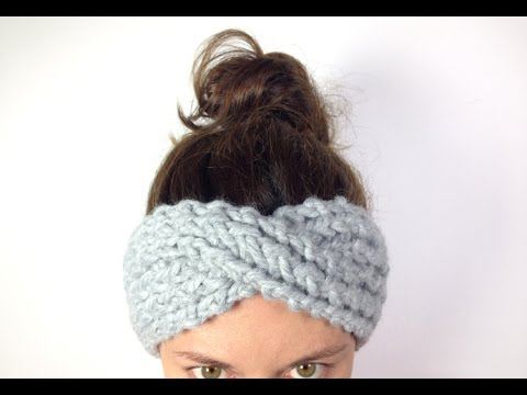 Loom Knitting Pattern Headband : How to Loom Knit a Turban Headband / Ear Warmer (DIY Tutorial) - YouTube