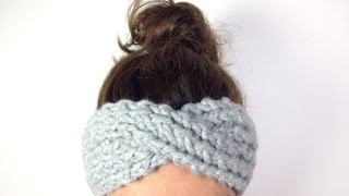 Repeat youtube video How to Loom Knit a Turban Headband / Ear Warmer (DIY Tutorial)