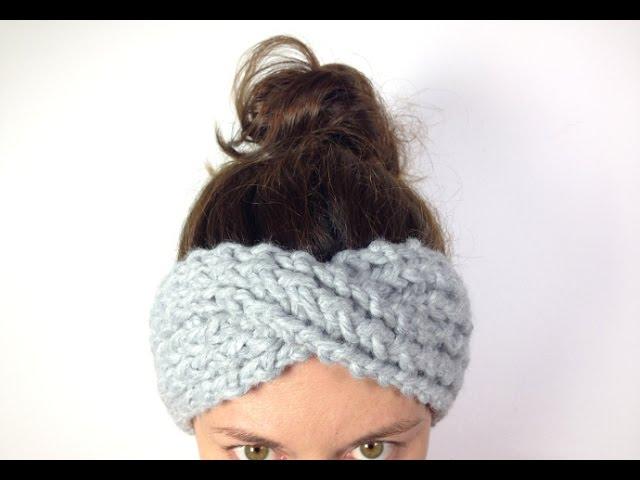 How To Loom Knit A Turban Headband Ear Warmer Diy Tutorial