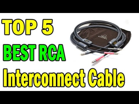 Top 5 Best RCA Interconnect Cable In 2021  Best Audiophile Interconnect Cables Review
