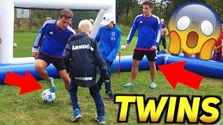 These TWINS Tricks EVERYONE With Their Football Skills! ★
