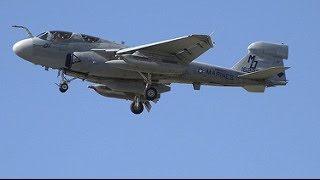 LOUD EA-6B Prowler Takeoff & Landing