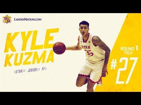 Lakers Select Kyle Kuzma at the 27th (via Nets) pick in the 2017 NBA Draft (Full Draft Video)