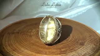 Golden Sophia. Rutilated quartz ring by Lala Lotos.