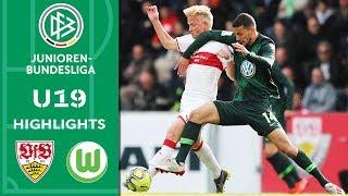 VfB Stuttgart - VfL Wolfsburg 0:0 | Highlights | A-Junioren-Bundesliga | Halbfinale Hinspiel