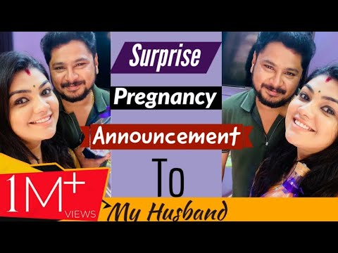 Roja serial actress Pregnant Surprise given to the husband, Here is the video.