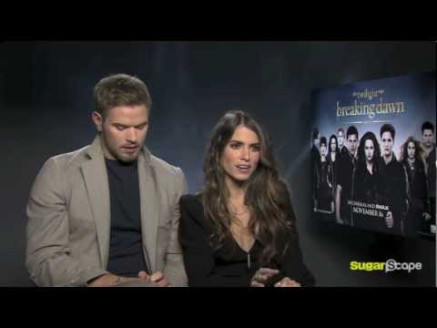Twilight's Kellan Lutz & Nikki Reed talk Kristen Stewart's muscles & Breaking Dawn Part 2
