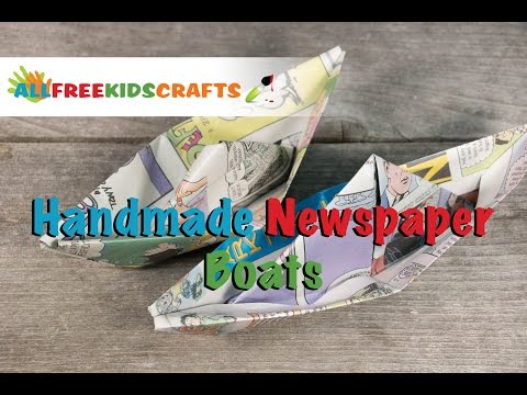 Crafts for Kids: How To Make a Newspaper Boat
