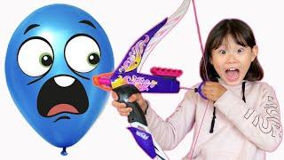 라임의 풍선을 활로 맞추면 선물을 줄께  Learn Colors with Play Doh Feather Fun Chicken Animal Playset