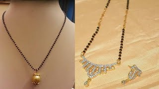 Latest Simple Light Weight Gold Mangalsutra Designs With Weight - She Fashion