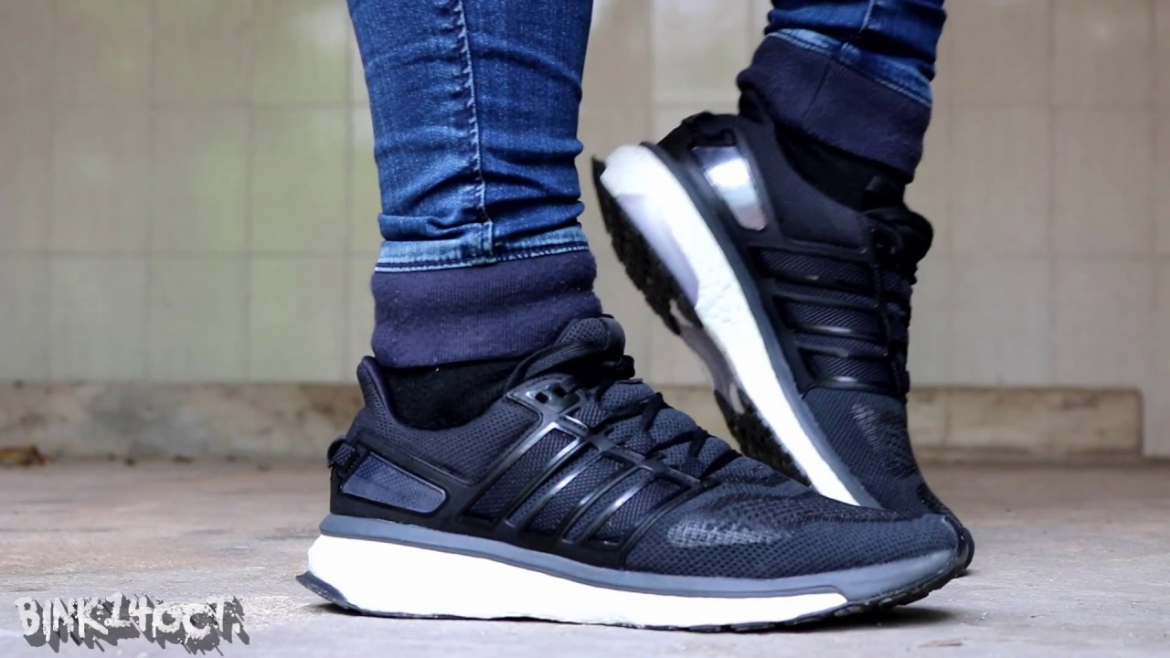 Adidas Energy Boost Black On Feet